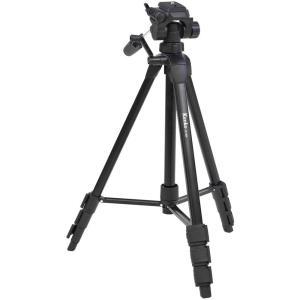 三脚 軽量4段 カメラ・ビデオカメラ用 Kenko ケンコー・トキナー ラックピニオン式 3ウェイ雲台 クイックシュー式 水準器付 ブラック ZF-400 ◆宅