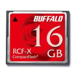 在庫限り! 決算処分特価16GB BUFFALO/バッファロー コンパクトフラッシュカード RCF-Xシリーズ 低消費電力仕様 RCF-X16G ◆メ|flashmemory