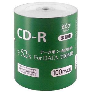 HI-DISC ハイディスク 業務用 CD-R 52倍速 100枚ecoパック インクジェット対応 ワイドプリント CR80GP100_BULK ◆宅|flashmemory