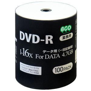 HI-DISC ハイディスク データ用 業務用 DVD-R 16倍速100枚 インクジェット対応 ワイドプリント DR47JNP100_BULK ◆宅|flashmemory
