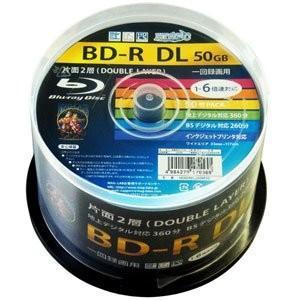 HI-DISC ハイディスク 6倍速対応BD-R DL 50枚パック 50GB ホワイトプリンタブル HDBDRDL260RP50 ◆宅 flashmemory
