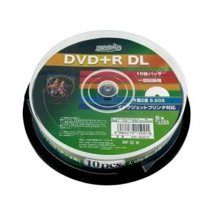 HI-DISC ハイディスク DVD+R DL 2層 8倍速 データ用 10枚スピンドル ホワイトプリンタブル HDD+R85HP10 ◆宅|flashmemory