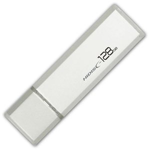 128GB USBメモリー USB3.0 HI-DISC ハイディスク キャップ式 ハイコストパフォーマンスモデル シルバー HDUF114C128G3 ◆メ|flashmemory