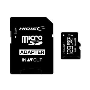 128GB microSDXCカード マイクロSD HI-DISC ハイディスク CLASS10 UHS-1 SD変換アダプタ/収納ケース付 HDMCSDX128GCL10UIJP3 ◆メ|flashmemory