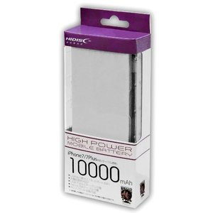 HI-DISC ハイディスク 10000mAh モバイルバッテリー 2ポート出力2.1A 折り畳みACプラグ搭載 USB TypeCケーブル microUSBケーブル各1本付 HY-MB10000ACWH ◆宅|flashmemory