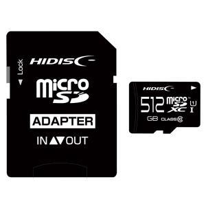 512GB microSDXCカード マイクロSD HI-DISC ハイディスク Class10 UHS-I R:90MB/s W:70MB/s SDアダプター/収納ケース付 HDMCSDX512GCL10UIJP3 ◆メ|flashmemory