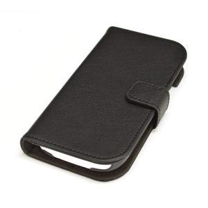 らくらくスマートフォン3(F-06F)専用 手帳横型ケース SNAP ブラック ◆メ|flashmemory