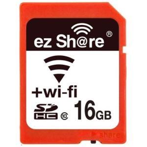 16GB SDHCカード SDカード Wi-Fi機能搭載 ezShare Class10 Android/iOS両対応 海外リテール Wi-FiSD-16G ◆メ|flashmemory