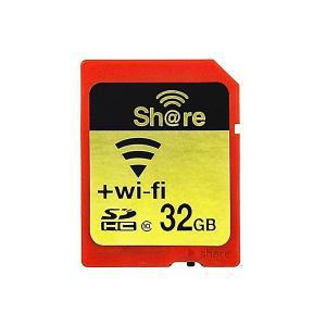 32GB ezShare 無線LAN搭載SDHCカード Wi-Fi SDカード Class10 Android iOS両対応 海外リテール Wi-FiSD-32G ◆メ|flashmemory