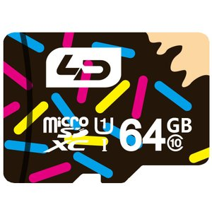 64GB LD microSDXCカード Class10 UHS-I対応 高速転送 R:最大70MB/s 日本語パッケージ LD-MSD64GC10U1 ◆メ|flashmemory