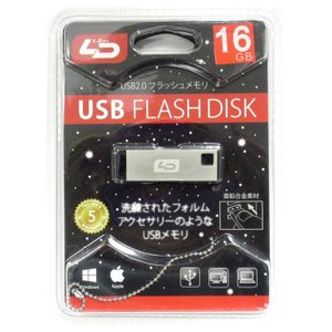 ◇ 【16GB】 LD USBメモリー X2 USB2.0 亜鉛合金デザイン キーチェーン付 日本語パッケージ LD-UFD16GX2U20 ◆メ|flashmemory