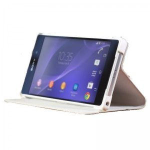SONY ソニー スタンド機能付きカバー Style Cover Stand (Xperia Z2 用) ホワイト 並行輸入品 SCR10(WH) ◆宅|flashmemory
