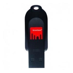 2GB Strontium Pollex USBフラッシュメモリ USB2.0対応 ブラック/レッド 海外リテール SR2GRDPOLLEX ◆メ|flashmemory