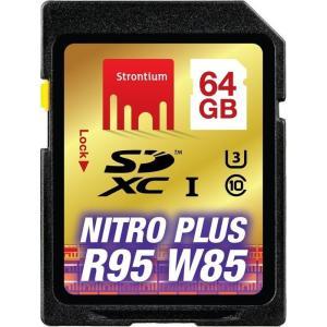 ◇ 64GB SDXCカード SDカード Strontium Nitro Plus Class10 UHS-I U3 R:95MB/s W:85MB/s 海外リテール SRP64GSDU1 ◆メ|flashmemory