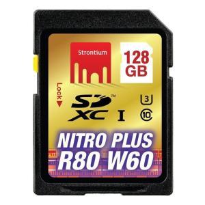 128GB SDXCカード SDカード Strontium Nitro Plus Class10 UHS-I U3 R:80MB/s W:60MB/s 海外リテール SRP128GSDU1 ◆メ flashmemory