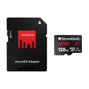 128GB microSDXCカード マイクロSD Strontium Nitro Class10 UHS-I U3 A1 R:100MB/s SDアダプタ付 海外リテール SRN128GTFU3A1A ◆メ|flashmemory