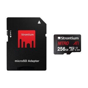 256GB microSDXCカード マイクロSD Strontium Nitro Class10 UHS-I U3 A1 R:100MB/s SDアダプタ付 海外リテール SRN256GTFU3A1A ◆メ|flashmemory