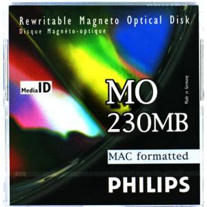フィリップス 3.5インチ MOディスク (光磁気ディスク) 230MB MACフォーマット済 PHILIPS 32P-M(230MB MAC)|flashstore