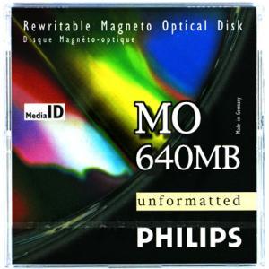 フィリップス 3.5インチ MOディスク (光磁気ディスク) 640MB アンフォーマット PHILIPS 34P(640MB)|flashstore