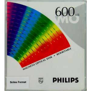 PHILIPS 5.25インチ MOディスク (光磁気ディスク) 600MB Scitexフォーマット済 1枚 PHILIPS 51P|flashstore
