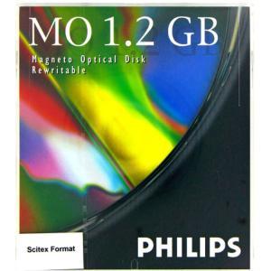 PHILIPS 5.25インチ MOディスク (光磁気ディスク) 1.2GB Scitexフォーマット済 1枚 PHILIPS 61P|flashstore