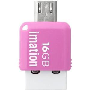 【数量限定☆在庫限り】IMATION 2-in-1 USBメモリ MINI 16GB ピンク STS-UFDMC16GB-PK【メール便対象商品合計2個までOK】