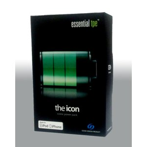 the icon -iconic power pack- iPhone4/iPod充電用バッテリー ポーチ付き ET-40001-1|flashstore