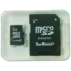☆バルク品☆microSDHCカード Class4 4GB 防水仕様 SD変換アダプタ付き プラケ-ス付 AC SM-MISDF4GB3【メール便OK】