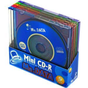 【大好評!MiniCD-R!】 8cmCD-Rの5枚組!  185MB CMC Mini CD-R21(MIX) 1P×5