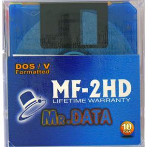 【MR.DATA】2HD フロッピーディスクWindows DOS/Vフォーマット済 10枚入 MF-2HD DOS/V MIX 10P(J)【メール便不可】