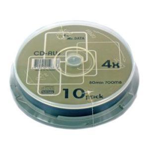 【返品交換不可】MR.DATA CD-RW 700MB 4倍速 10枚 スピンドルケース CD-RW80 1-4X 10PS_Outlet|flashstore