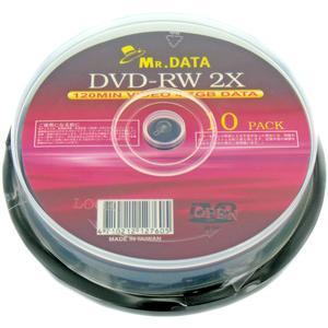 MR.DATA 繰り返し録画用 DVD-RW4.7GB 2倍速 10枚スピンドル 【在庫一掃大幅値下げ】|flashstore