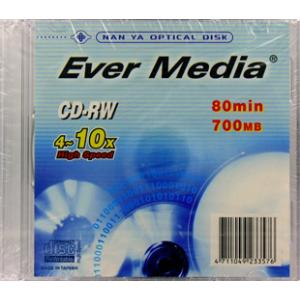 【返品交換不可】EVER MEDIA CD-RW 700MB 1枚 EVER MEDIA CD-RW80HS1PX10_Outlet|flashstore