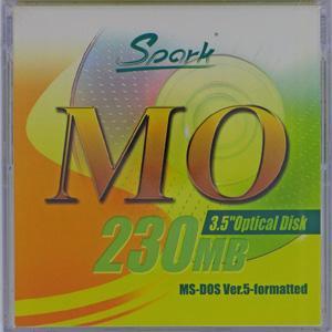 SPARK 3.5インチ MOディスク 230MB MS-DOSフォーマット済 1枚入 SPARK MO230MB DOS(YL)|flashstore