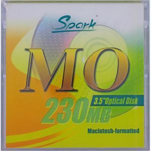 SPARK 3.5インチ MOディスク 230MB MACフォーマット済 1枚入 SPARK MO230MB MAC(YL)|flashstore