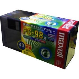 【40枚パック】maxell 3.5型フロッピーディスク PC-98用 カラーミックス MFHD8MIX.C40P【メール便不可】|flashstore