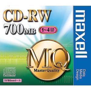【お取り寄せ商品】maxell CD-RW MQシリーズ データ用 700MB 1-4倍速対応 1枚 5mmslimケース入り くり返し記録用 標準品アンフォーマット  CDRW80MQ.S1P|flashstore