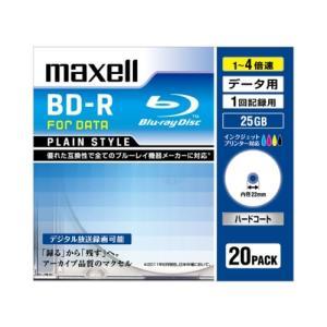【お取り寄せ商品】maxell BD-R データ用 25GB 1-4倍速 20枚 5mmslimケー...
