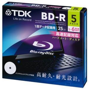 TDK データ用ブルーレイディスク BD-R 25GB 1-6倍速 ホワイトワイドプリンタブル 5枚パック 5mmスリムケース BRD25PWC5A flashstore