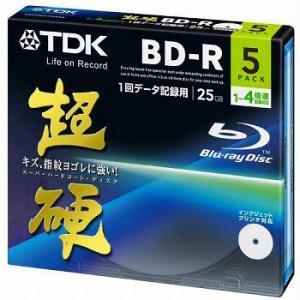TDK データ用ブルーレイディスク 超硬シリーズ BD-R 25GB 1-4倍速 ホワイトワイドプリンタブル 5枚パック 5mmスリムケース BRD25HCPWB5A