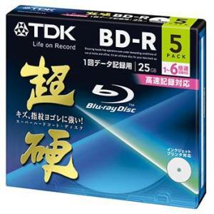 TDK データ用ブルーレイディスク 超硬シリーズ BD-R 25GB 1-6倍速 ホワイトワイドプリンタブル 5枚パック 5mmスリムケース BRD25HCPWC5A flashstore