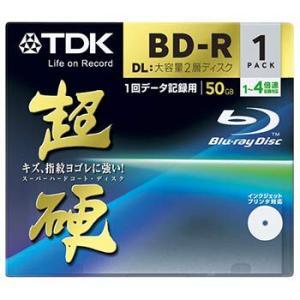TDK データ用ブルーレイディスク 超硬シリーズ BD-R DL 50GB 1-4倍速 ホワイトワイドプリンタブル 1枚 10mmケース BRD50HCPWB1A flashstore