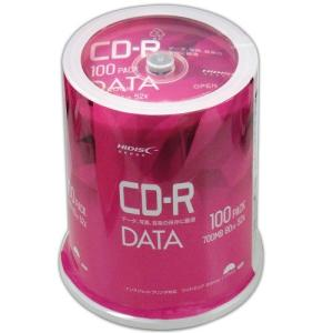 <新製品>HIDISC CD-R データ用 700MB 80分 52倍速 100枚 スピンドルケース ホワイトワイドプリンタブル インクジェットプリンタ対応 VVDCR80GP100