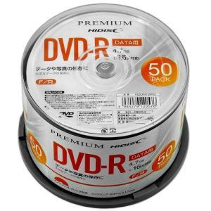 <新製品>PREMIUM HIDISC DVD-R データ用 16倍速 4.7GB ホワイトワイドプリンタブル スピンドルケース 50枚 HDSDR47JNP50