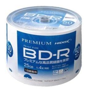 PREMIUM HIDISC BD-R 1回録画 4倍速 25GB 50枚 スピンドルケース ホワイトワイドプリンタブル インクジェットプリンタ対応 HDVBR25RP50
