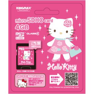 ハローキティ Micro SD 4GB KIT-MCSD4G  【メール便OK】|flashstore