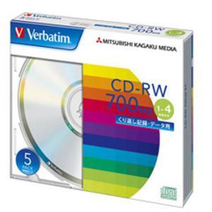 【お取り寄せ】Verbatim データ用CD-RW 700MB 4倍速 5枚 シルバーレーベル バーベイタム SW80QU5V1|flashstore