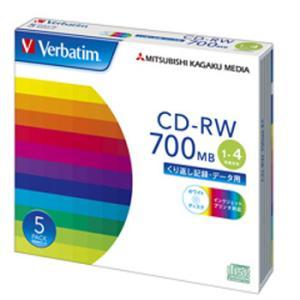 【お取り寄せ】Verbatim データ用CD-RW 700MB 4倍速 5枚 プリンタブル バーベイタム SW80QP5V1|flashstore