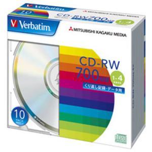 【お取り寄せ】Verbatim データ用CD-RW 700MB 4倍速 10枚 シルバーレーベル バーベイタム SW80QU10V1|flashstore