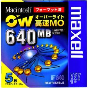 【訳あり】マクセル 3.5インチ 高速 MOディスク 640MB 5枚パック Macintoshフォーマット済 オーバーライト対応 RO-M640.MAC.B5P flashstore